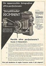 W9817 Voigtlander PROMINENT ultra perfezionato - Pubblicità del 1934 - Old ad
