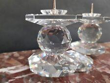 Swarovski European Crystal double candle holder candlestick