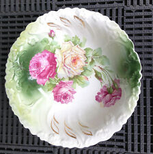 "Royal Firenze China Crown Mark Large Floral Rose Bowl  10"""