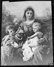 Glass Magic Lantern Slide HOLY FAMILY C1910 CHRISTIAN RELIGION