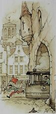"#2181 Anton Pieck Print 5 sheets  5.25""X 3"" HOLLAND"