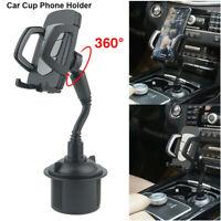Universal 360 Degree Adjustable Gooseneck Cup Stand Car Cellphone Mount  Holder