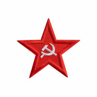 Communism Star Embroidered Sew On Iron On Badge Red Patch Fabric Craft Sticker