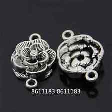 8pc Tibetan Silver flower Connectors Bracelet Charms Jewelry Making GP524