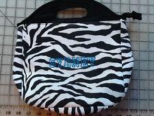 Pottery Barn~ Black Zebra PB Teen Gear up Tote LUNCH BAG BOX~SYDNEY
