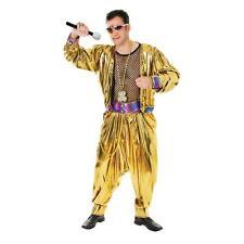 Mens 80's Video Super Star Costume MC Hammer Music Fancy Dress Outfit