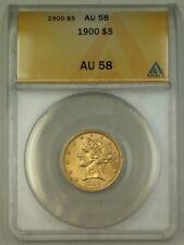 1900 $5 Five Dollar Liberty Half Eagle Gold Coin ANACS AU-58