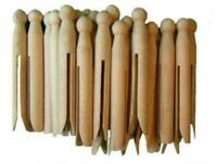 Pack Of 24 High Quality Wooden Dolly Pegs Clothes Line Washing