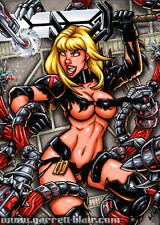 MAGIK Danger Room Tentacle Trouble X-Men Pinup Art 5x7 MINI-PRINT Garrett Blair