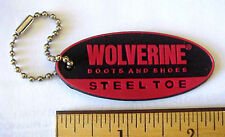 WOLVERINE BOOTS & SHOES STEEL TOE BENDABLE RUBBER ADVERTISING KEYCHAIN