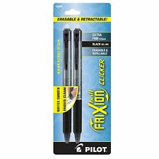 Frixion Clicker Erasable Gel Ink Pen. 2 - Pack - Extra Fine Pen Point Type - 0.5