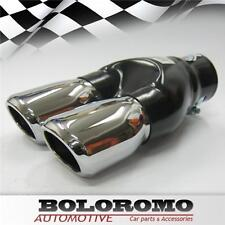 Twin Exhaust Pipes Muffler Pipe Chrome Fits Ford Ka Focus Mondeo Escort Transit
