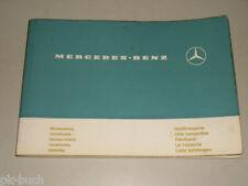Betriebsanleitung Handbuch Mercedes Benz Leicht-Transporter L 206 306 D, 12/1973