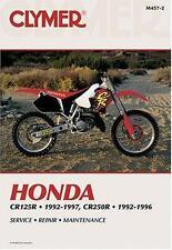 CLYMER MOTORBIKE WORKSHOP SERVICE REPAIR MANUAL HONDA CR80 R 89-95 CR125 R 89-91