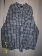 NORTHWEST TERRITORY Men's Long Sleeve Shirt Green Plaid Sz 5XL NWTs
