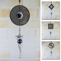 Metal Wind-Chimes Spinner Spiral Rotating Crystal Ball Yard Room Decor Gift
