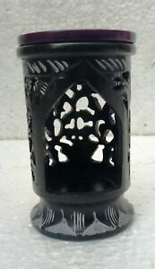 Tea Light Candle Holder Stone Hand Crafted Unique Carving Indian Home Art