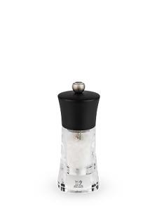 PEUGEOT - Moulin à sel manuel en bois et acryl couleur noir 14 cm Oléron