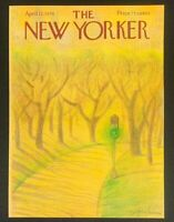 COVER ONLY ~ The New Yorker Magazine, April 12, 1976 ~ Eugene Mihaesco