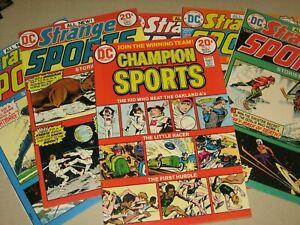 CHAMPION SPORTS #1 STRANGE SPORTS #2-6 (DC COMICS 1973-4) VF/NM