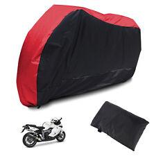 Housse Bache MOTO Couvre-Moto scooter Taille L 225cm Rouge Noir impermeable