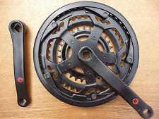 """JUNIOR Triple chainwheel Set adatto per 24"""" ATB MTB CICLO BICICLETTA Anelli in Acciaio nuovo"""