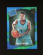 #/99 MALIK MONK RC 2017-18 Donruss Rated Rookie Green Foil #190 Hornets MINT