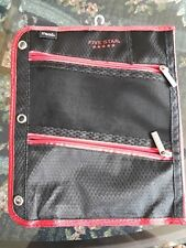 Mead Five Star Pen Pencil Case Zippered 3 Compartment Pocket Binder Holder Pouch