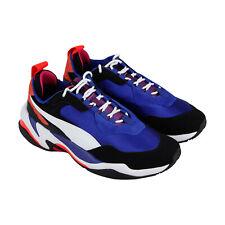 Puma Thunder 4 Life 36947101 мужская синяя замша и текстиль низкие кроссовки обувь