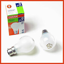 LOT OF 5  46 W = 60 W  FROSTED OSRAM Halogen Light Globes Bulbs bayonet  BC