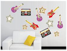 Wandtattoo wandaufkleber wandsticker Kinderzimmer music Musikinstrumente  f015