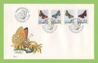 Denmark 1993 Butterflies set on First Day Cover