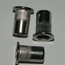 25 Stk klemmt 3-6,5 Nietmuttern Einnietmuttern M10 Stahl verz Flachkopf ger