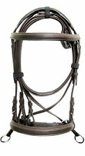 New Leather Bitless Brown Crossover Bridle Full web reins