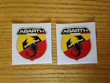 Abarth Fiat 500 Scorpion Logo Laminated Car Stickers Decals x2 41mm x 29mm