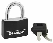 """Master Lock 141D Black 1-9/16"""" Wide Covered Solid Body Padlock - Pack of 2"""