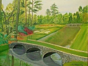 """Augusta National Golf Club - 12th Hole """"Golden Bell"""" -  Original Oil Painting"""