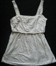 MOTHERHOOD Damen Umstandshemd in Creme-Grau Gr. L