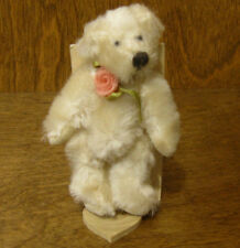 "Russ Berrie MO BEARS & FRIENDS #21051 WOODROW, 3.25"" Mohair From Retail Store"