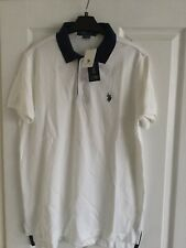 US Polo Assn White Polo Shirt Size L Slim Fit BNWT