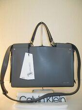 Calvin Klein Asphalt Leather Callie Convertible Tote Shoulder Bag $228