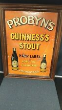 Vintage Probyn's Guinness Stout Metal Beer Sign 1920's