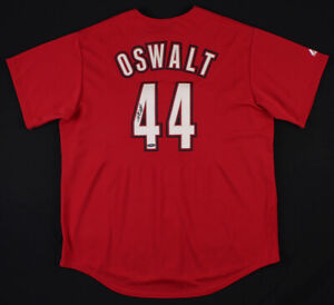 Roy Oswalt Signed Houston Astros Majestic MLB Jersey (TriStar Holo)2005 NLCS MVP
