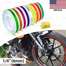 "1/4"" 6mm PIN STRIPE Striping Car Motorcycle WHEEL RIM Decal Vinyl Stickers US"