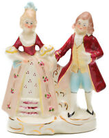 Vintage Coventry USA Porcelain Colonial Man & Victorian Woman Figurine #5053A