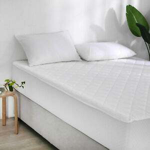 Poly Cotton Extra Deep 40cm Mattress Protector Fitted Wet Sheet Pillow Covers