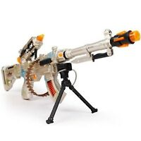 Burning Spin 3 Toy Military Machine Gun With Sound And Light Vibration