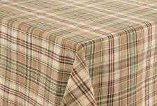 TABLE CLOTH 60X84 IN RECTANGULAR THYME PLAID 100% COTTON PARK DESIGNS