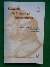 STUDIES IN THE THEATER OF OSCAR WILDE M DRUGEON CAHIERS VICTORIENS EDOUARDIENS