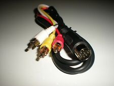 Commodore 64 & 128 monitor cable with split chroma and luma & audio. New. 4 ft.